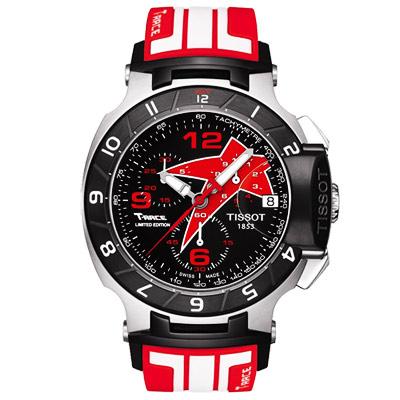 TISSOT T-RACE Nicky Hayden  2012  賽車腕錶-紅/ 45 . 3 mm
