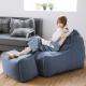 完美主義 頭靠懶骨頭+椅凳 愛爾蘭格子(4色)