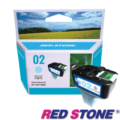 RED STONE for HP C8774WA環保墨水匣NO.02(淡青色)