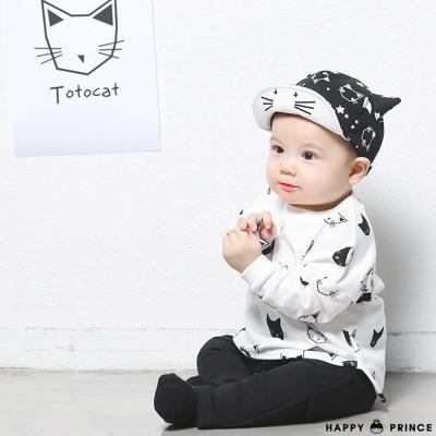 韓國 Happy Prince 黑白貓咪長袖上衣