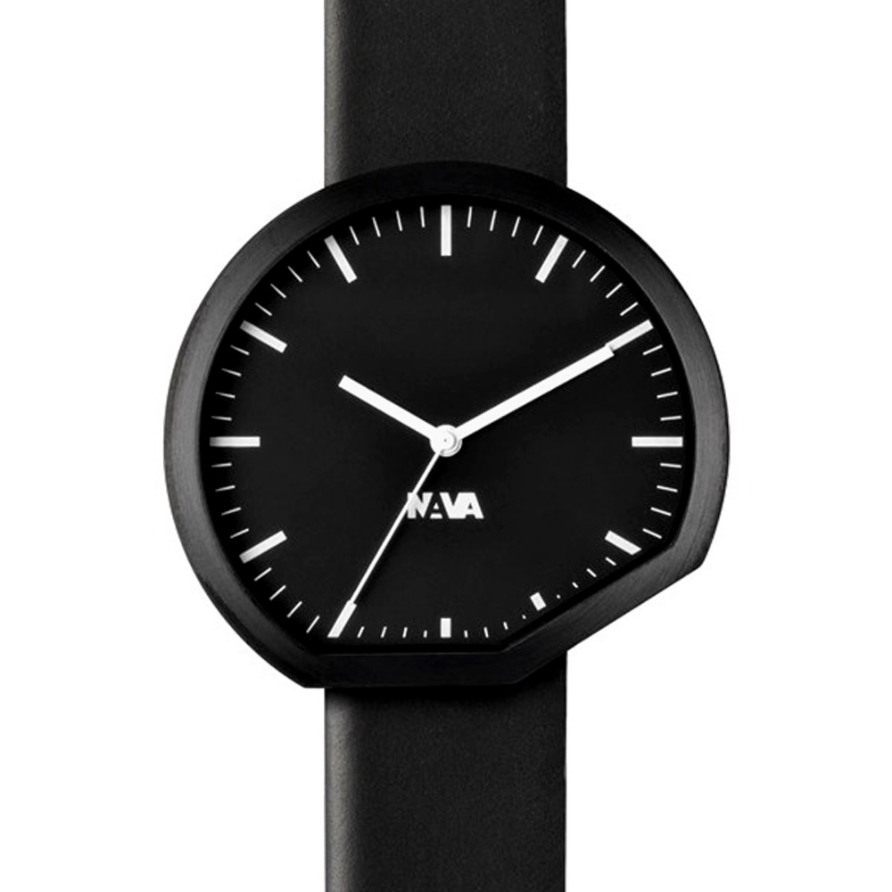 NAVA DESIGN ORA 時尚腕錶-黑/42mm