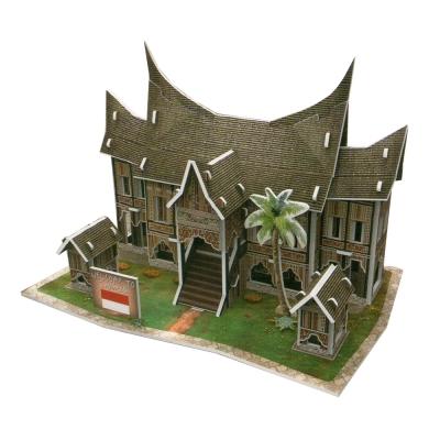 世界之窗 3D立體拼圖 東南亞-特色屋-印尼民居 3D World Style