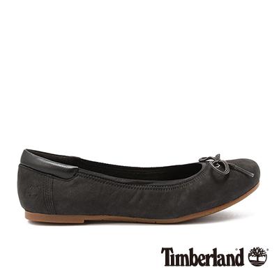 Timberland-女款黑色蝴蝶結造型娃娃鞋