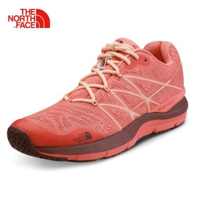 The North Face女款紅色緩衝穩定防護越野跑鞋