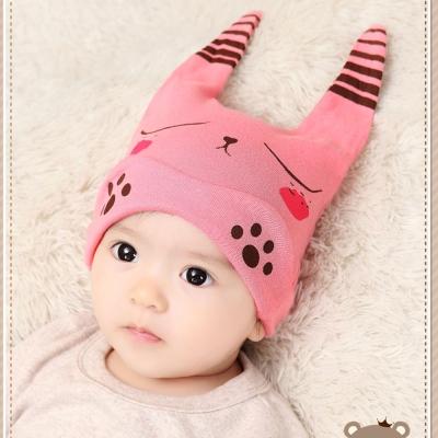 韓版-新生兒小腳印寶寶套帽