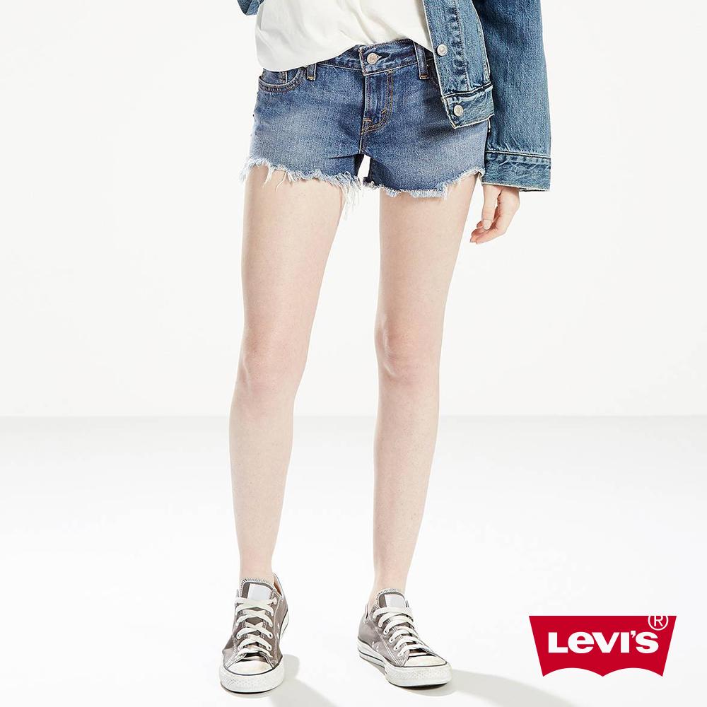 Levis 女款 牛仔短褲 不收邊