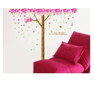 B-085花草系列-櫻花盛開樹 大尺寸高級創意壁貼 / 牆貼