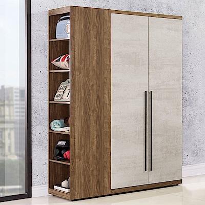 Homelike 米卡3.7尺衣櫃(雙色)-110x57x202cm