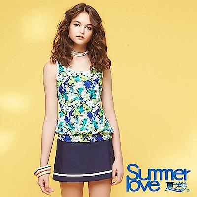 夏之戀SUMMER LOVE 加大碼長版印花三件式