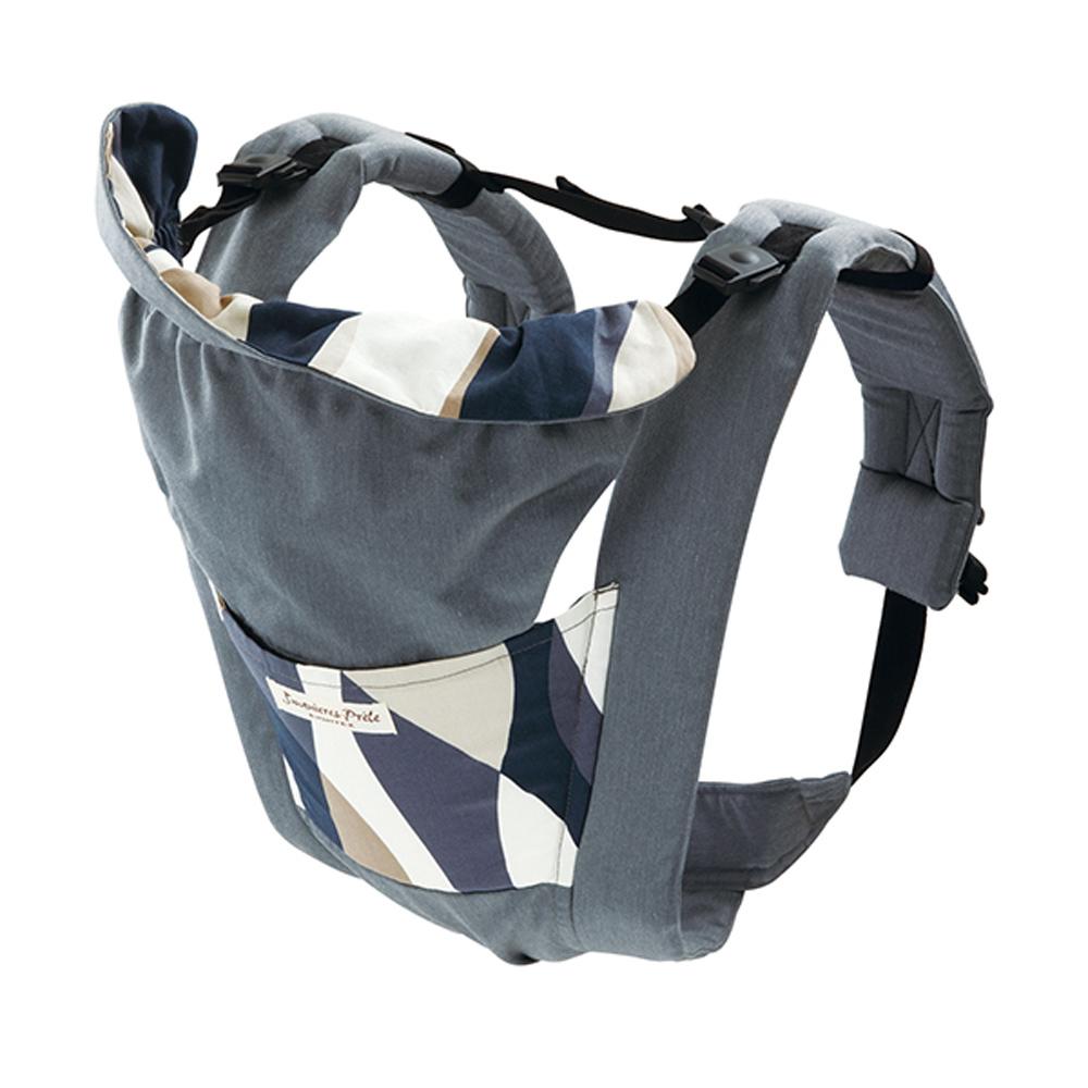 日本製Eightex-桑克瑪為好Prele五合一多功能背巾-花樣灰