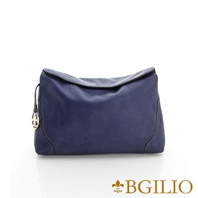 義大利BGilio-熱銷優雅簡約隨身小側肩背包-紫藍色2046.001D-10A