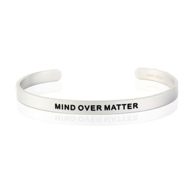 MANTRABAND Mind Over Matter 心智力量超越一切障礙 寬版手環