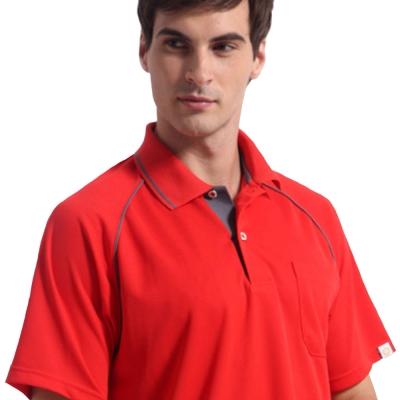 【Sunrise】88118活力鮮紅★短袖POLO男版襯衫