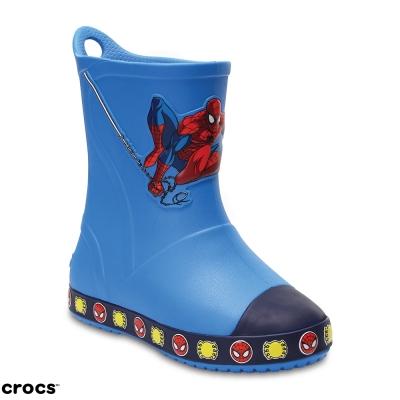 Crocs 卡駱馳 (童鞋) 蜘蛛人防衛兵雨靴 204718-456