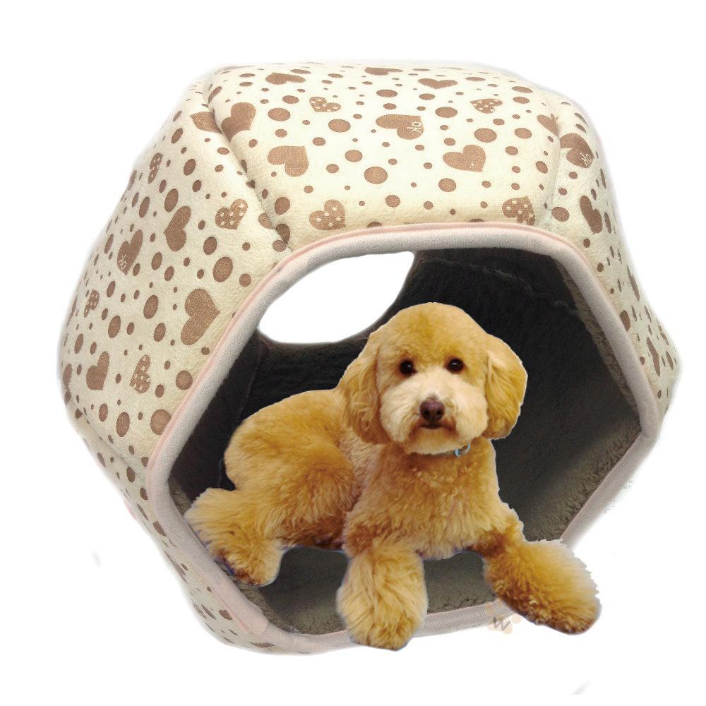 寵喵樂-立體六角燈籠窩-黃色愛心