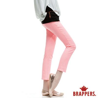 BRAPPERS  女款 新美腳Royal系列-女用彈性九分褲-粉橘
