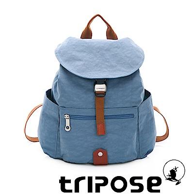tripose MEMENTO系列微皺尼龍輕量防潑水後背包-小 天空藍