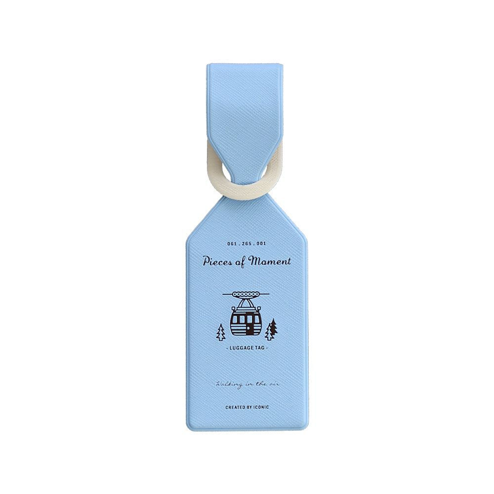 ICONIC 飛行日記行李吊牌-粉藍