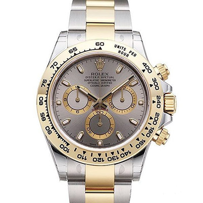 ROLEX 勞力士 Daytona 116503 新款計時半金灰面腕錶-40mm