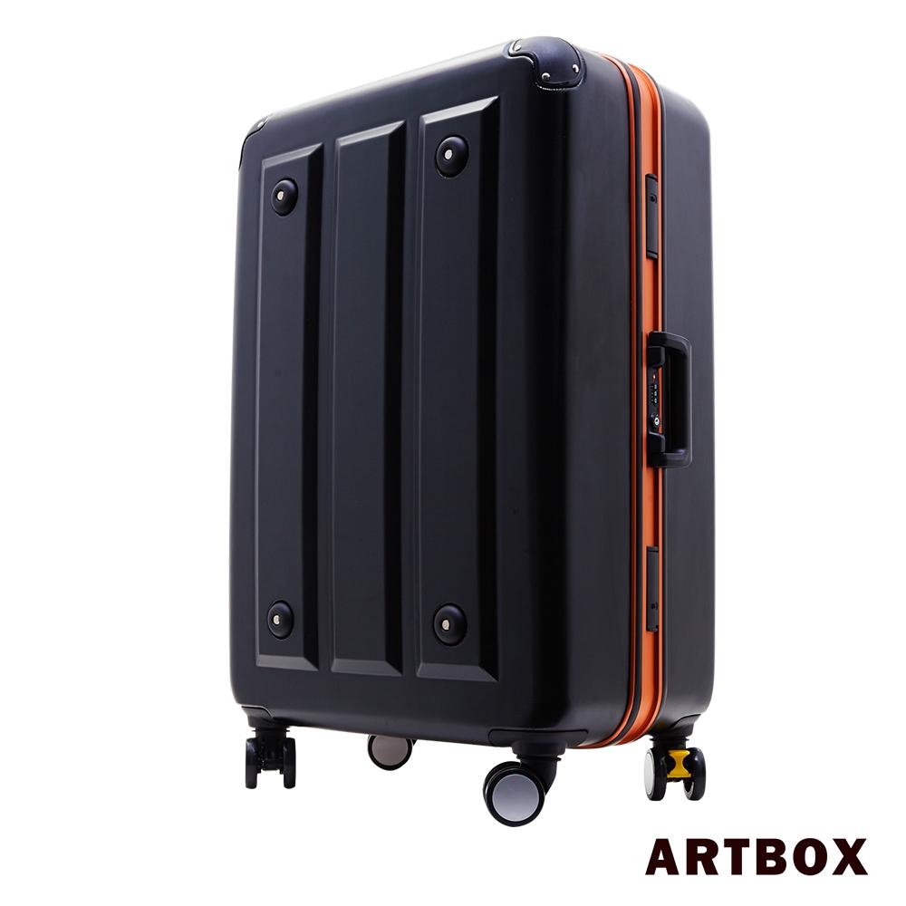 ARTBOX 暗影獵人 - 20吋ABS鑽石紋撞色鋁框行李箱(活力橘)