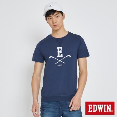 EDWIN 曲棍球大學領T恤-男-丈青