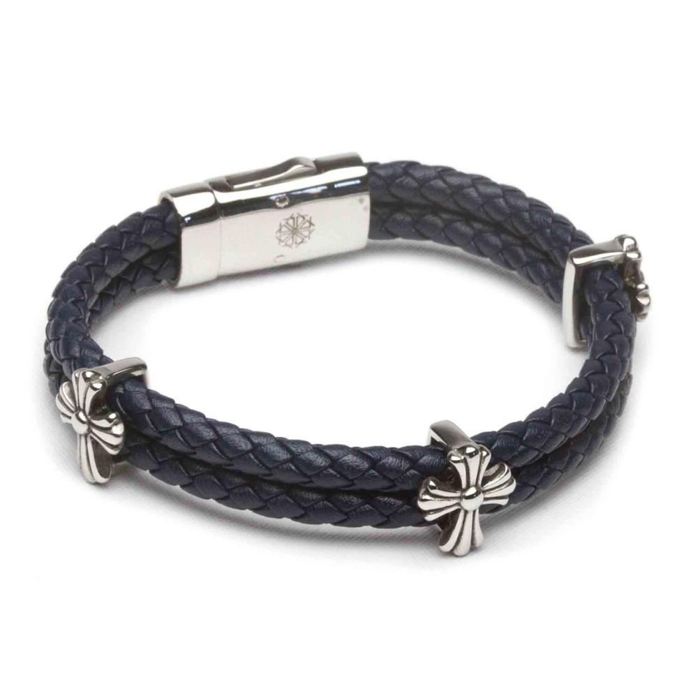 ZENGER  經典時尚皮繩系列-浪漫-深藍