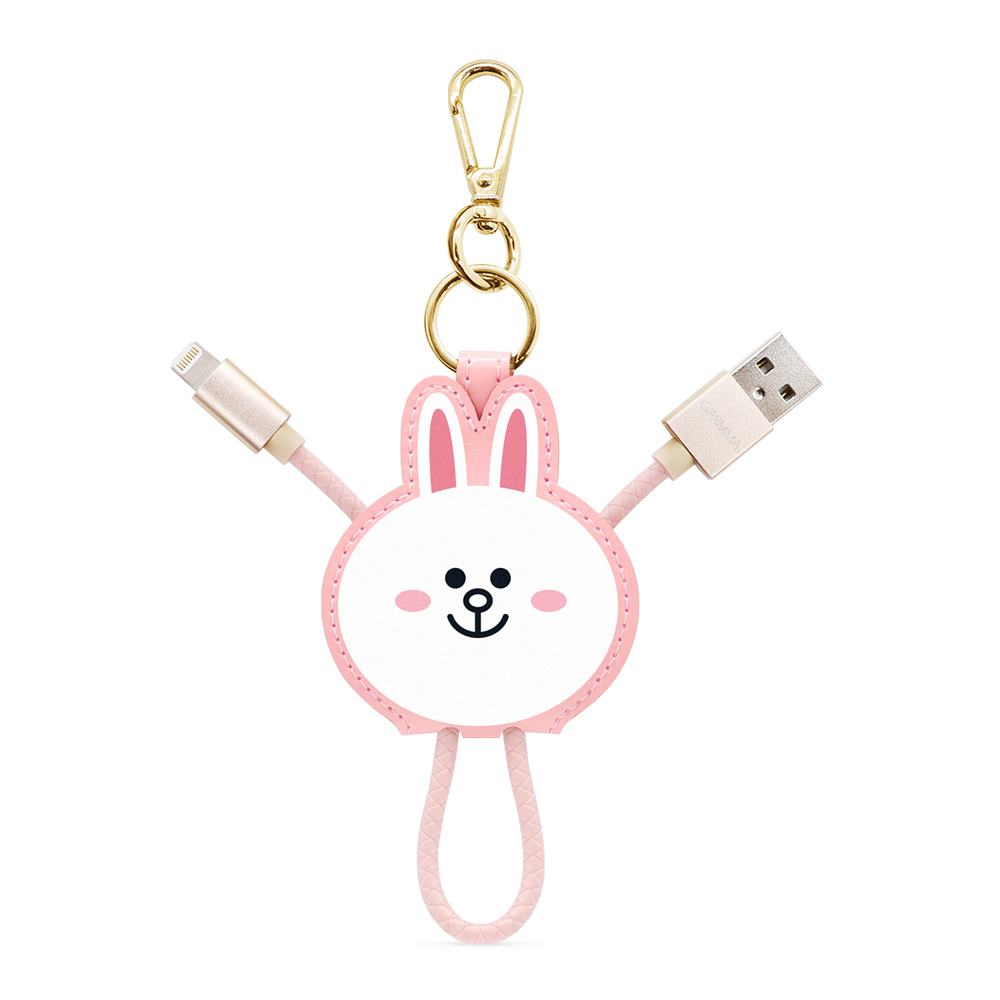 GARMMA LINE Friends Apple Lightning皮革吊飾傳輸線 兔兔