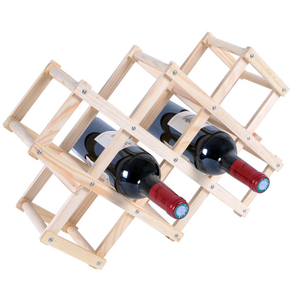 原木簡易紅酒架