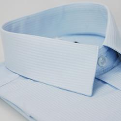 金‧安德森 藍色吸排窄版長袖襯衫