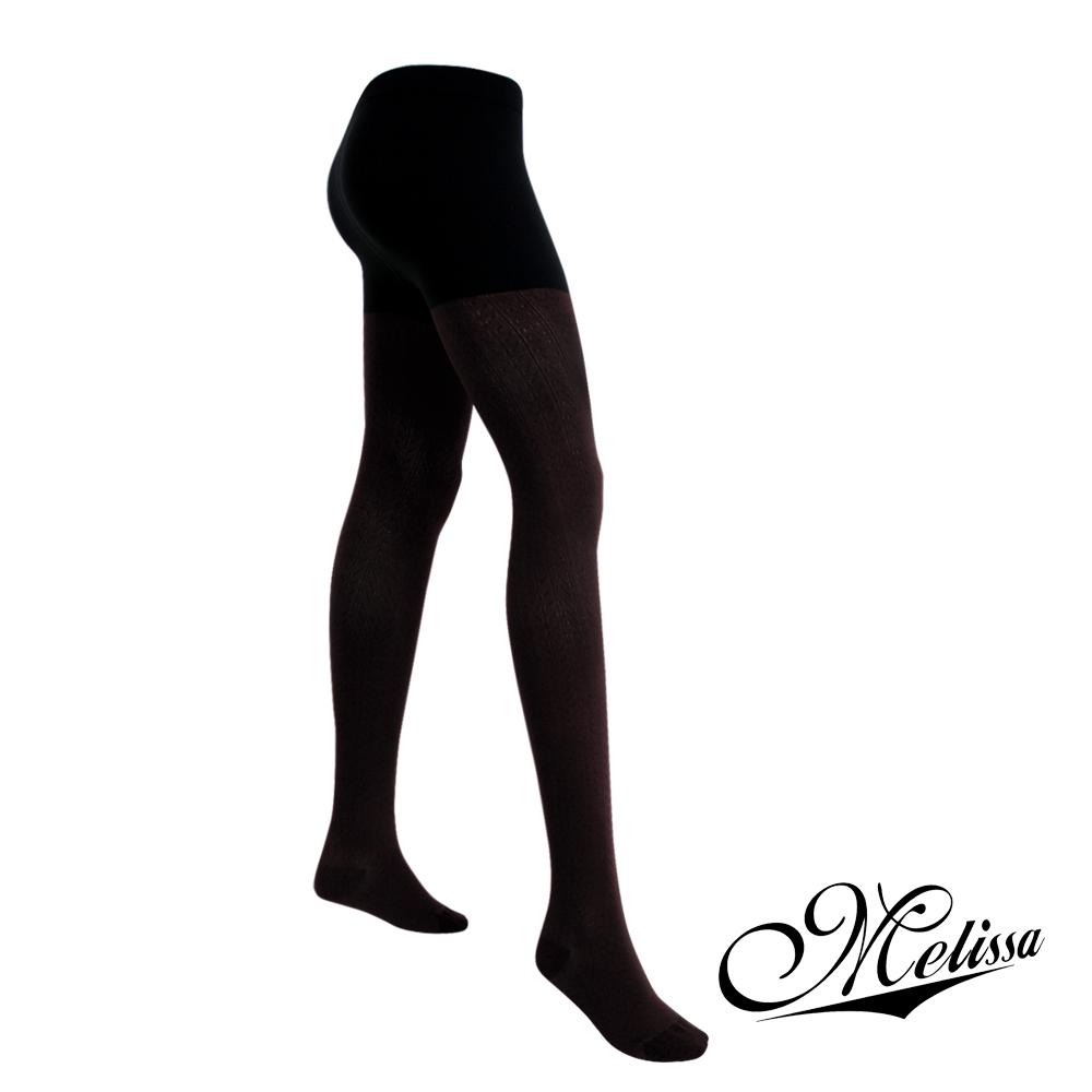 Melissa 魅莉莎 醫療級時尚彈性美腿襪─褲襪(魅力黑)