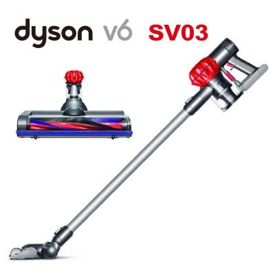 [限量福利品]dyson V6 SV03 無線手持式吸塵器(艷麗紅)