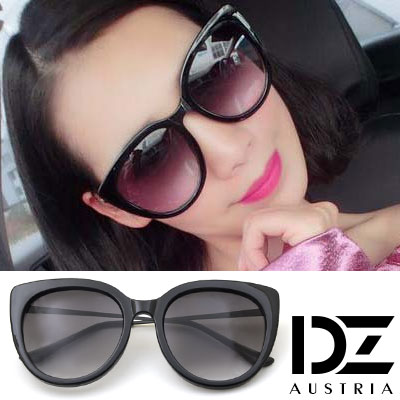 DZ 美型風采 抗UV太陽眼鏡造型墨鏡(黑框漸層灰片)