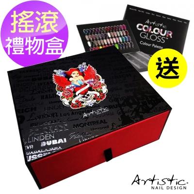 美國大藝術家-AC-1007-搖滾雙色禮物盒-黑紅-贈甲片本x1