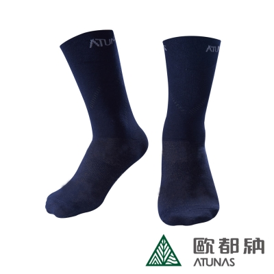 《Atunas》歐都納 A-A1516 X-Static 紳士襪-深藍 F
