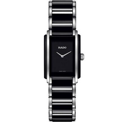 RADO Integral 精密陶瓷系列腕錶-黑/23x33mm