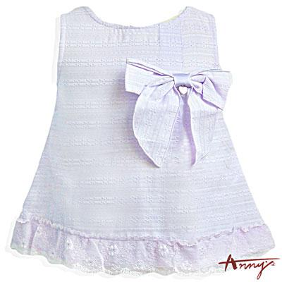 Annys可愛輕薄飄逸裙襬無袖上衣*5178紫