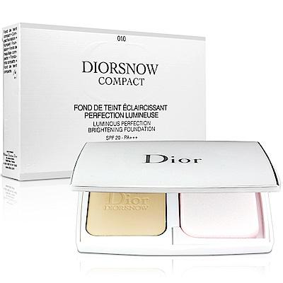 Dior迪奧 雪晶靈透亮UV粉餅#010-象牙亮白色(9g)