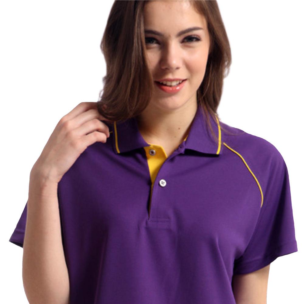 【Sunrise】88116-1典雅暗紫★短袖POLO女版襯衫