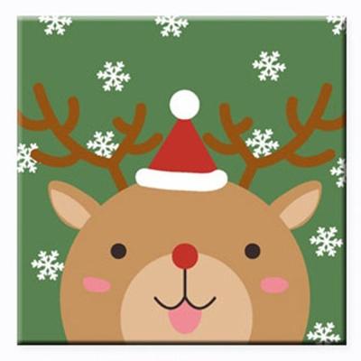 LOVIN 超萌韓版數字油畫 聖誕米鹿B 1幅 20x20cm