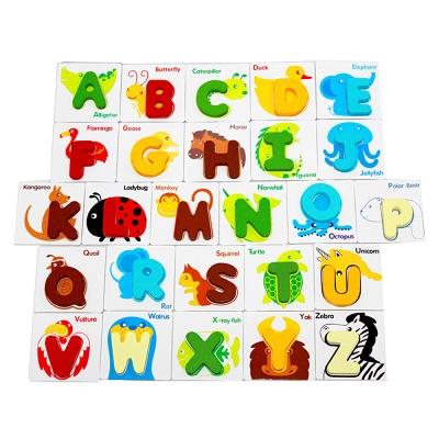 Amuzinc酷比樂 木頭玩具 親子互動 字母配對卡 5848