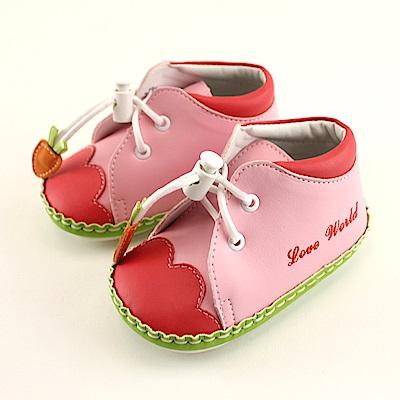 愛的世界 胡蘿蔔寶寶鞋(高筒)/學步鞋-台灣製-