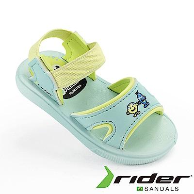 RIDER 幼童 BASIC SANDAL Q彈涼鞋 粉藍色/螢光黃
