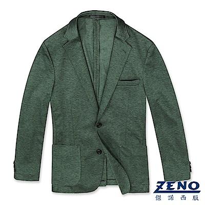 ZENO 精品舒適休閒西裝外套‧綠色L-3L
