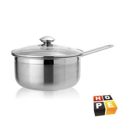 HOPE歐普 輕量化不鏽鋼單柄湯鍋20CM