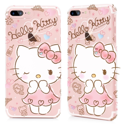GARMMA Hello Kitty iPhone 8+7+ 硬式保護殼 蜜糖公...