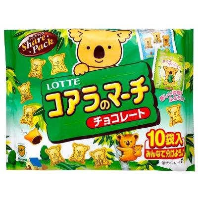 Lotte樂天-小熊餅家庭號袋裝-巧克力-120g