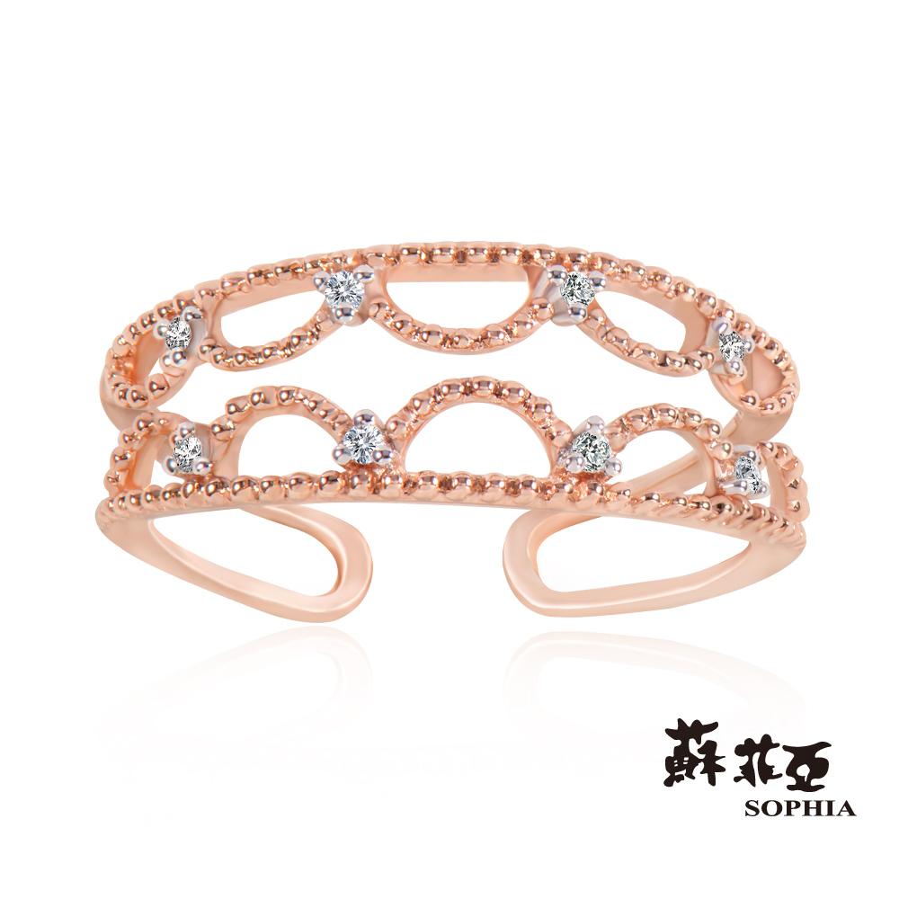 蘇菲亞SOPHIA - Romantic系列星網鑽石C型鑽戒