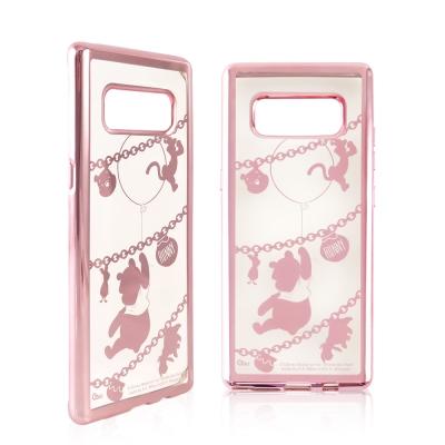 Disney迪士尼 三星Galaxy Note8時尚質感電鍍保護套-鎖鏈系列 小...