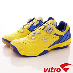 Vitro韓國專業運動品牌-HELIOS-Ⅳ-頂級專業羽球鞋-黃藍(男)