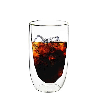 FUSHIMA富島 冰裂系列雙層耐熱玻璃杯380ML